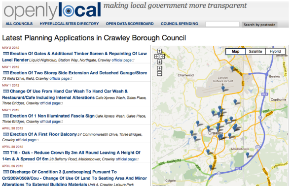 Crawley Council Planning Applications